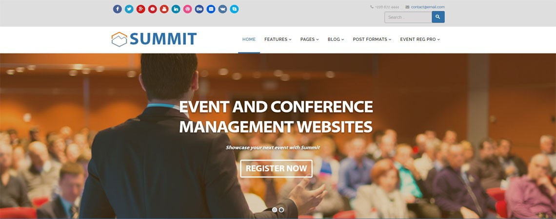 Summit - Responsive Joomla Template For Events And Conferences