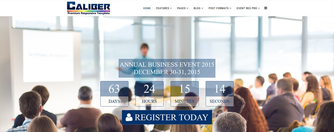 Meet Caliber - A Responsive Event and Conference Template For Joomla