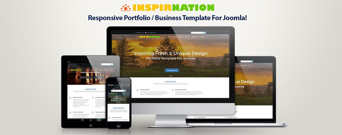 Meet Inspirnation - An Inspirational Responsive Business Portfolio Template For Joomla