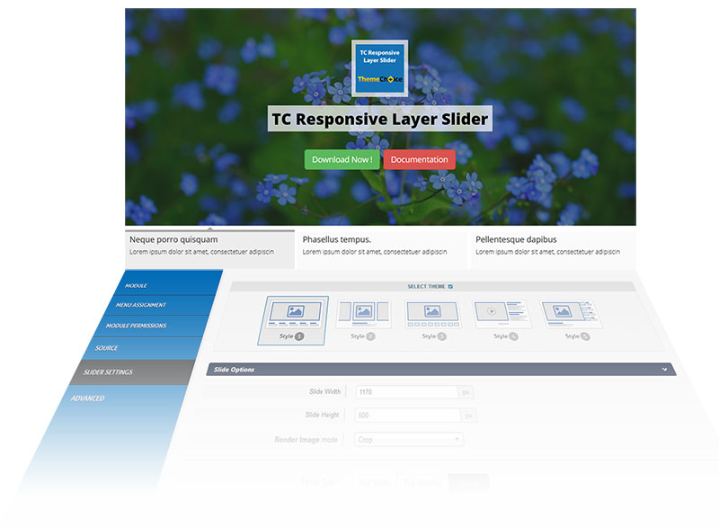TC responsive layer slider header